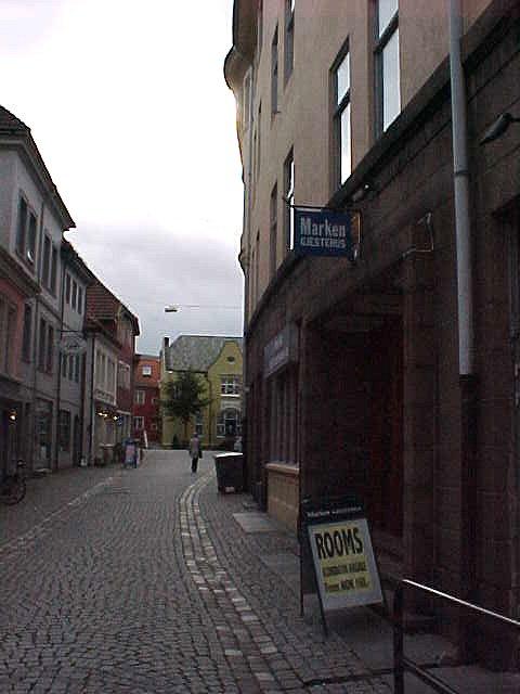 The entrance of my place for tonight, Marken Gjestehus, a hostel.
