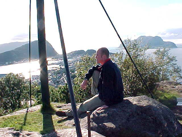Me at the highest point of Ålesund, where early Vikings had great views on the sea... For safety and exploration...
