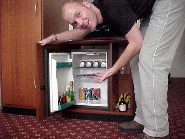 ... And I even had a MINI BAR!!!
