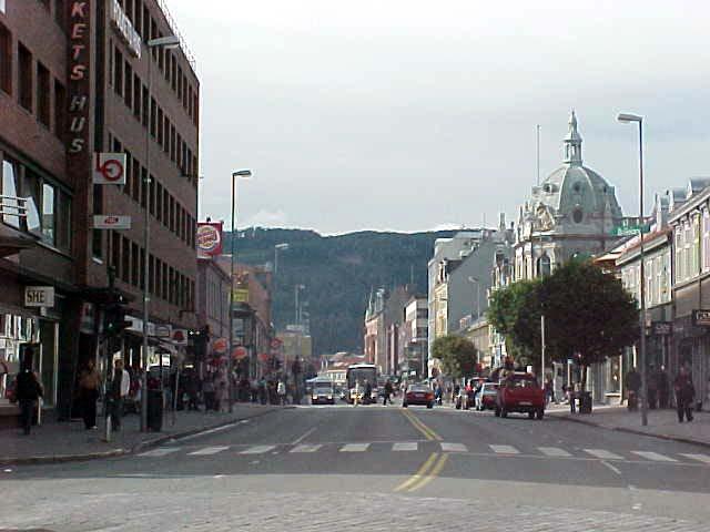 Street in Trondheim.