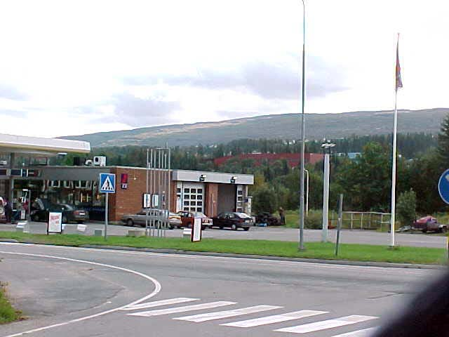And behind this gas station, no, behind that hill, lays Sweden. I WILL go to Sweden, but only on a short base - to catch a plane in Malmö, in the deep south of Sweden.