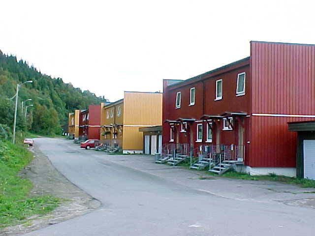 Norwegian houses in Mo I Rana.