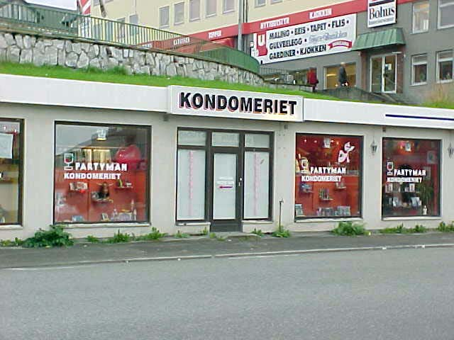 Something you do not often see, probably nowhere outside of Europe: a condomery. Guess what they sell?