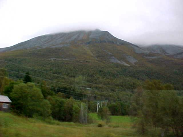 The view from the bus to Åndalsnes (again). In Norway you are ALWAYS surrounded by green mountain sides...