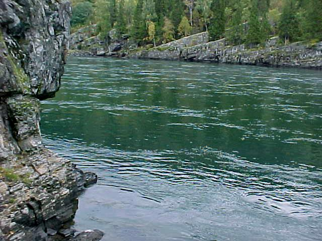 The green color of the river is given because it is the melting water of glaciers up north and it streams down through a lot of fertile nature, according to H�rvard.