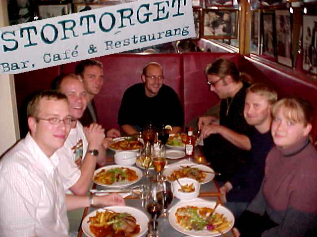 And together with John and Helenas friends we had dinner at the Stortorget restaurant.