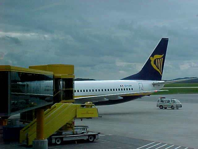 The Boeing 737 where I would fly in.