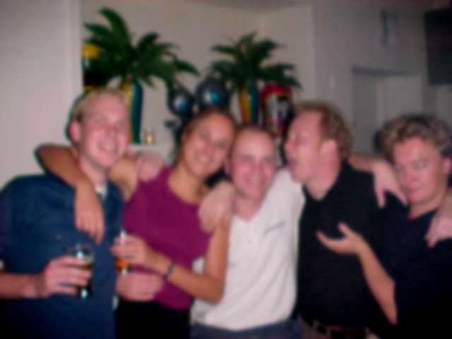 Well, it really started to become a very blurry night. Thats why...