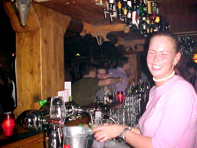 Barmaid Esther: Ramon what the heck are you doing here? You are going to South Africa? Yeah, you are still funny!
