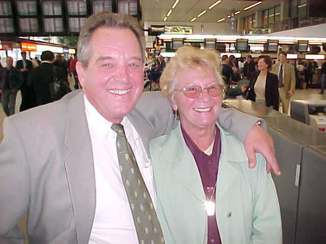 Saying goodbye to my parents, again, at the Amsterdam Airport.