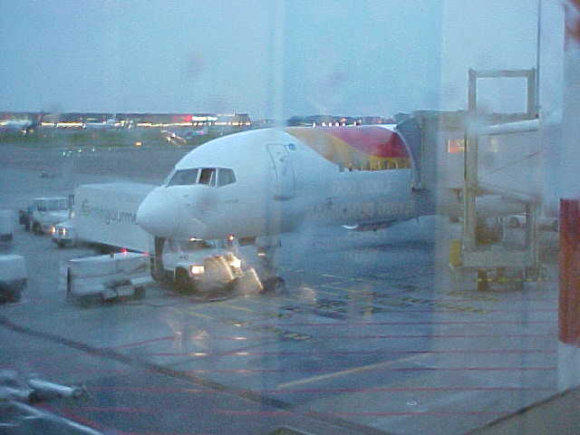 The Boeijng 737 that took me from Amsterdam to Madrid...
