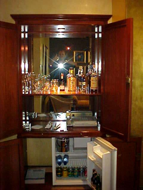 Here I just cannot speak about a mini bar anymore. It was alcohol all over the place... Maybe I will try just a little bit...