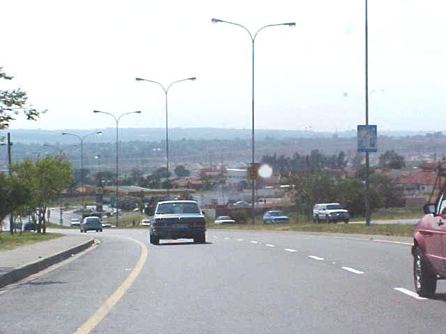 On the way from Etravel Headquarters towards Johannesburg Airport.