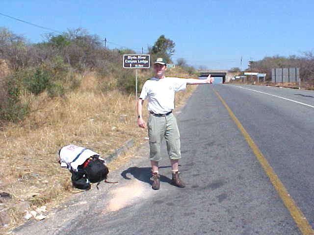 With no transportation arranged for me, Bertus dropped me of on a road outside the reserve where I started a long hitch of over 400 kilometres back to Johannesburg.