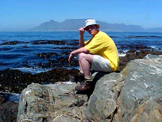 Sitting on world history. This is Robben Island.