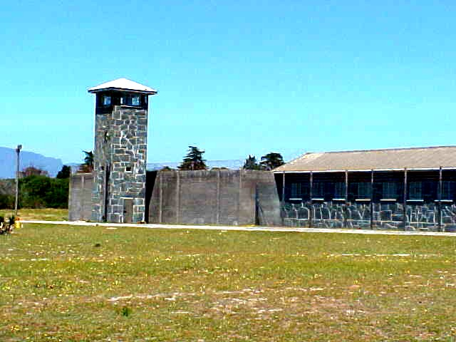 Entering the Heavy Security Prison of the Robben Island prison complex.