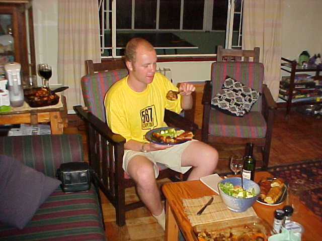 I find it always very amusing to eat something that I don't really know or haven't eaten before. And it's always good I must say! (By the way, how about my bright yellow CapeTalk t-shirt?)