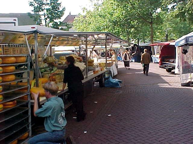 And like almost every morning there is a market in the centre.