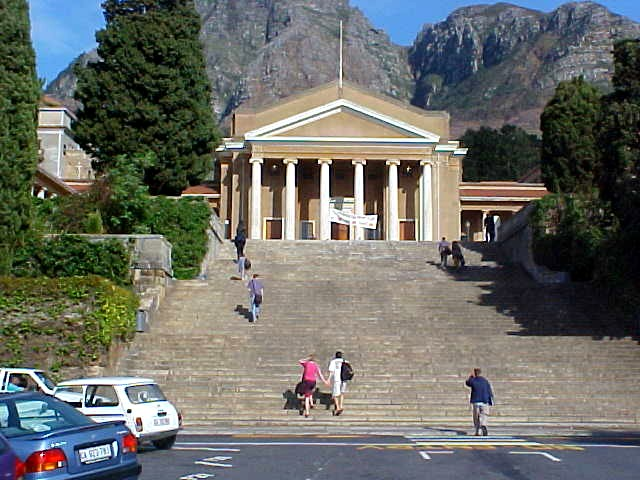 The main entrance of the Cape Town University where Di works at the Health Department.