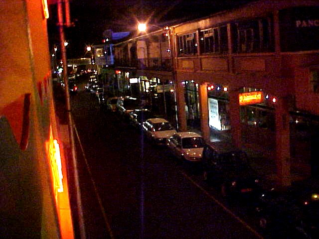 The start of our night life in Observatory as seen from above. Lovely street.