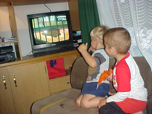 The kids enjoyed the Cartoon Network...
