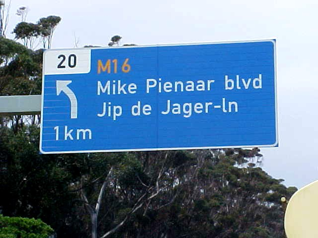 Only the Dutch will find these streetnames on the motorway funny I should say...