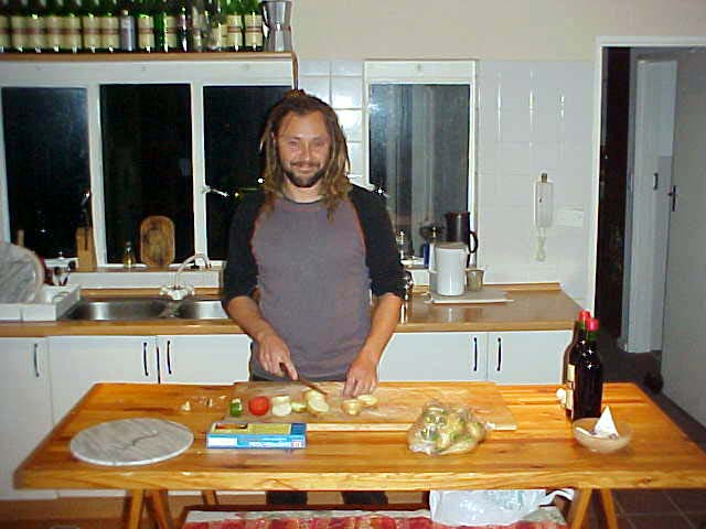 Carinus Lemmer prepares dinner and shows he never cries while cutting onions.