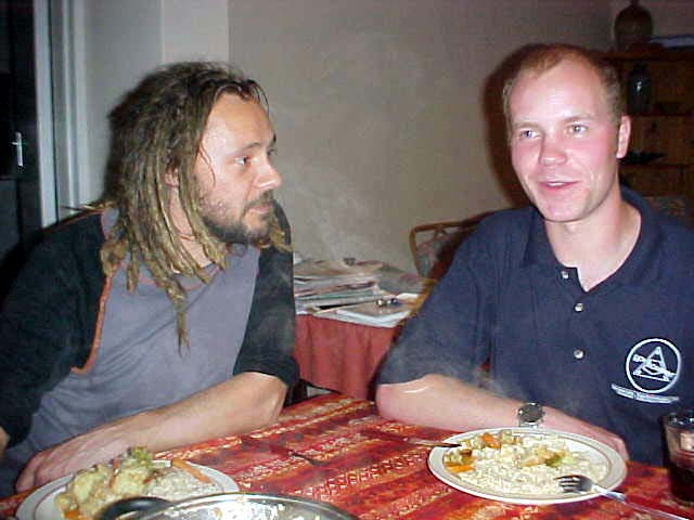 And dinner with two friends of Carinus and Michael of course started with my Singing Before Supper, the symbolic words for my daily story telling...