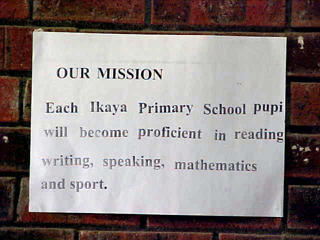 The mission statement of this primary school fits on one piece of paper and looks so simple, but it totally is not...