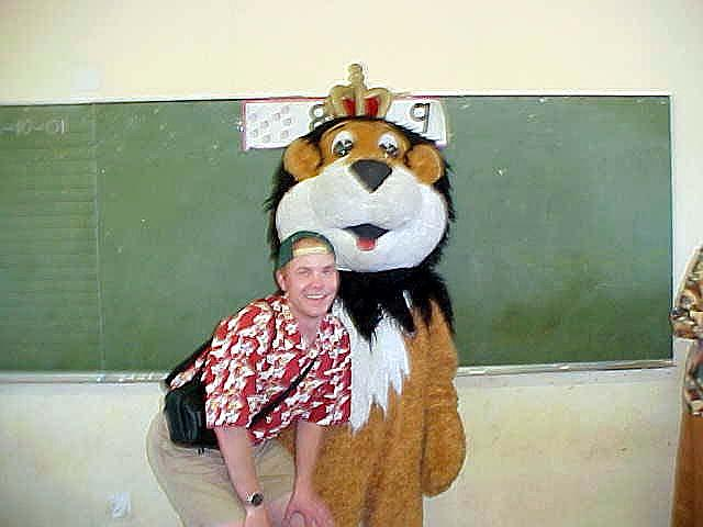Of course I was allowed to be on ONE photograph with the Lion King himself... (Proud me!)