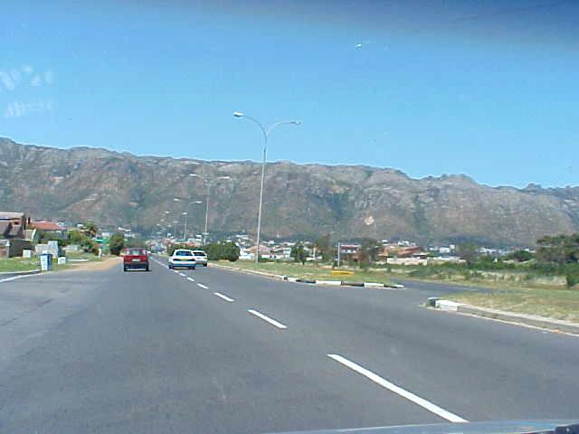 We were heading to that mountain range, the Hottentot Holland mountains.