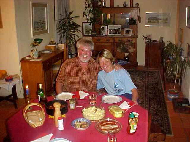 Patrick and Karin at the dinning table.