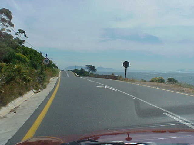 And the road towards Bettys Bay took us along a coastal mountain road...