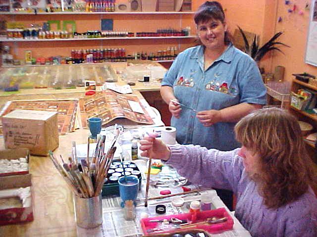 And Nelmarie was working at her craftshop.