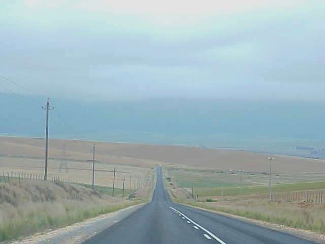 And the road towards Mosselbaai was long and just goes on and on, while driving through all the patches of farmland.