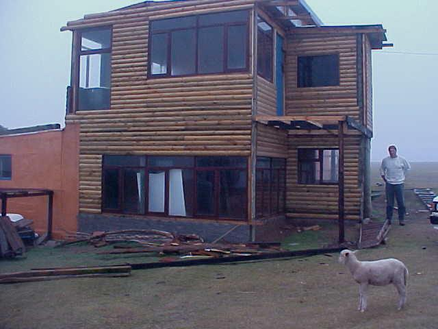 I am staying in Anthonys self-built home on the farm, the only 2-storey building in the entire district....