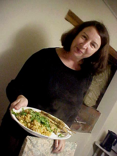Look at that! Wendy made me some special meal today: nasi goring with Thai ingredients! Hmmmmm.