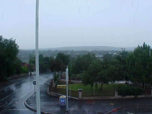 A rainy shot from the oh so wowy balcony...