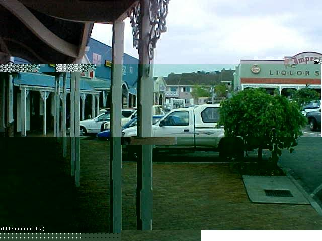 Knysna town, a bit scrambled by my camera. Do not worry, it was a disk failure...