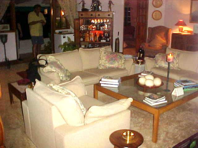 The lovely and comfortable lounge at the Mont Fleur B&B.