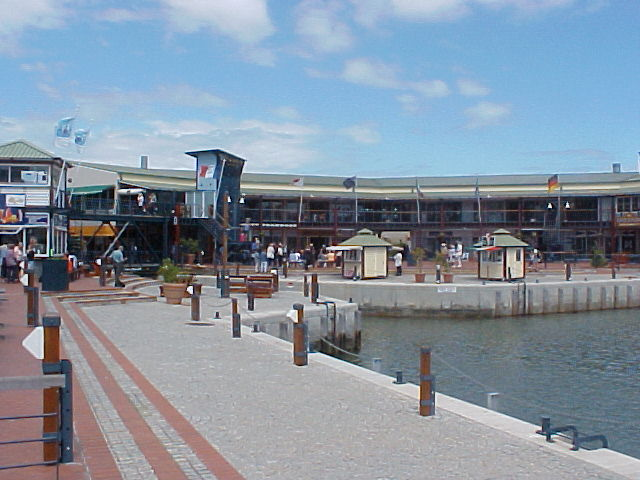 Also called the Knysna Quay, where souvenirs shops and national pub chains await the summertime guests.
