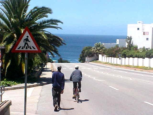 Everything in Plettenberg Bay is just so close to the beach. I walked this road to the office of Ocean Blue Adventures who offered me a complimentary whale and dolphin trip by boat.