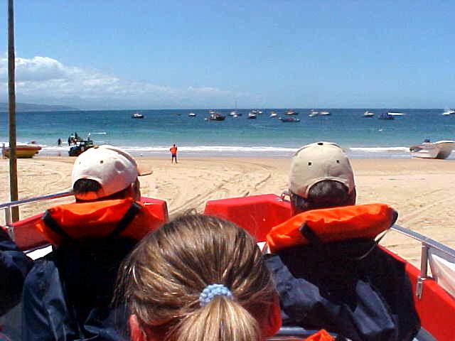 Packed in life jackets we were loaded into the boat, which would be launched into the water from the beach.
