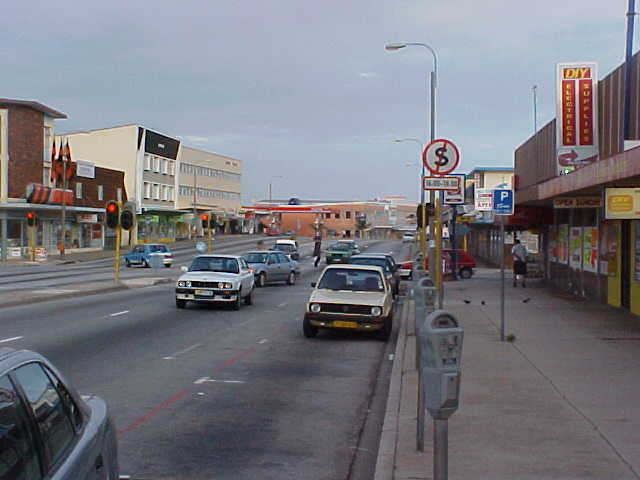 The proof: deserted streets in Port Elizabeth. Only the cars...