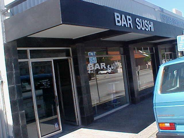 The place where I had breakfast around 2pm: the best Sushi Bar I have ever been to in South Africa!!!
