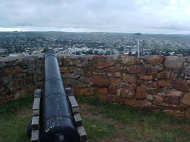 The view on Grahamstown in its crater, as seen from the original British fortress.