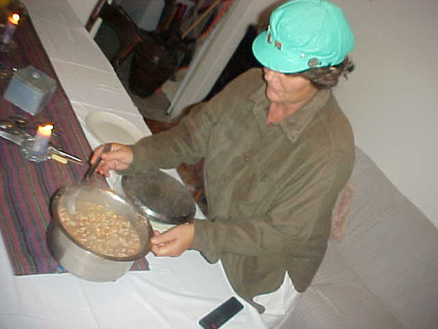Mongqusho is a typical Xhosa-diet, made with milliepap, beans, potatoes and lambneck.