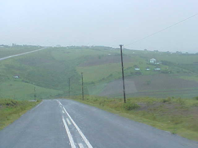 Green hills and fog, but still marvellous!