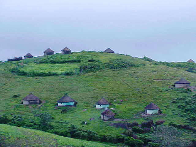 The Transkei. Loving every mud hut here!