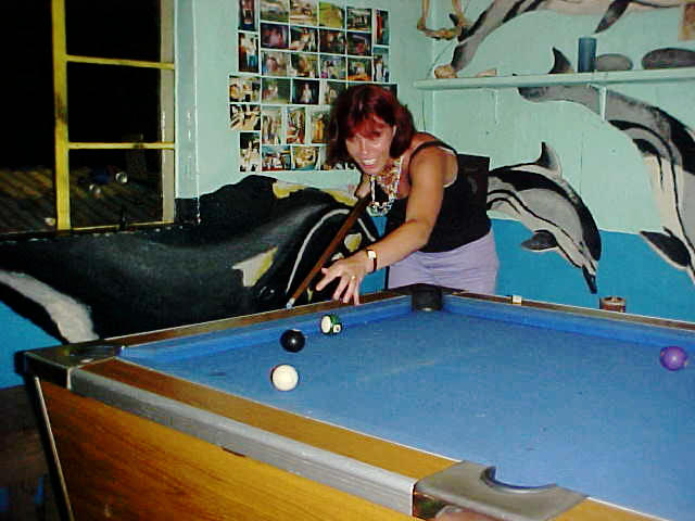 Dawn breaking out on the pool table.
